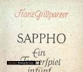 Sappho. Von Franz Grillparzer (1956)