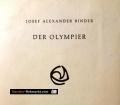 Der Olympier. Von Josef Alexander Binder (1972)