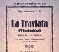 La Traviata. Von G. Verdi (1927)