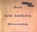 Regeln für die deutsche Rechtschreibung nebst Wörterverzeichnis (1906)