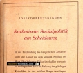 Katholische Sozialpolitik am Scheideweg. Von Josef Dobretsberger (1947)