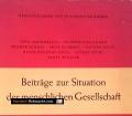 Beiträge zur Situation der menschlichen Gesellschaft. Von Friedrich Salzmann (1956)